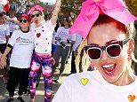 LOS ANGELES, CA - OCTOBER 18:  Singer Miley Cyrus and Mari Wilson (left) attend the 13th Annual LA County Walk To Defeat ALS at Exposition Park on October 18, 2015 in Los Angeles, California.  (Photo by Frazer Harrison/Getty Images)