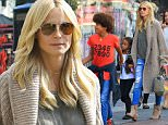 Heidi Klum takes two of her children shopping at the mall on Sunday. The model and fashionista looks glam in jeans, and her kids follow suit, looking retro stylish as well.  They hit up The Grove to go see a movie Sunday, October 18, 2015 X17online.com