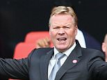 SOUTHAMPTON, ENGLAND - OCTOBER 17:  Ronald Koeman manager of Southampton reacts during the Barclays Premier League match between Southampton and Leicester City at St Mary's Stadium on October 17, 2015 in Southampton, England.  (Photo by Harry Engels/Getty Images)