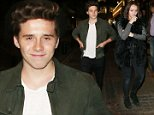 OIC - XCLUSIVEPIX.COM -  EXCLUSIVE CALL   07768836669 FORE FEES - Brooklyn Beckham is seen leaving The Phoenix Theatre with his Grand Parents Ted and Sandra Beckham after watching the Play Bend It Like Beckham in London 19th October 2015    Photo Xclusive Pix/OIC 0203 174 1069