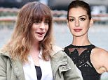 """UK CLIENTS MUST CREDIT: AKM-GSI ONLY\nEXCLUSIVE: Langley, British Columbia - Academy award winner Anne Hathaway wigs out and shows off her goofy side while dancing onset the first day of her new feature movie """"Colossal"""" in Langley on a rainy day.\n\nPictured: Anne Hathaway\nRef: SPL1155638  191015   EXCLUSIVE\nPicture by: AKM-GSI / Splash News\n\n"""