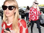 Pictured: Emma Roberts\nMandatory Credit © CALA/Broadimage\nEmma Roberts arrives at the Los Angeles International Airport\n\n10/19/15, Los Angeles, California, United States of America\n\nBroadimage Newswire\nLos Angeles 1+  (310) 301-1027\nNew York      1+  (646) 827-9134\nsales@broadimage.com\nhttp://www.broadimage.com