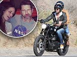 Please contact X17 before any use of these exclusive photos - x17@x17agency.com   Gerard Butler and his girlfriend Morgan take a ride up the oast and help out his friend that is also riding a motorcycle before getting back on the road, October 19,  2015 X17online.com EXCLUSIVE \n/X17online.com