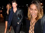 """NEW YORK, NY - OCTOBER 20:  Singer Robin Thicke, April Love Geary are seen arriving at """"Club Avenue"""" on October 20, 2015 in New York City.  (Photo by Raymond Hall/GC Images)"""