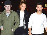 Joe Jonas and Gigi Hadid were spotted arriving to the Saturday Night Live after party to support their friend Demi Lovato. A dapper Nick Jonas was at the party, with no sign of his rumored fling, Kate Hudson. \n\nPictured: Gigi Hadid, Joe Jonas, Nick Jonas\nRef: SPL1154185  171015  \nPicture by: 247PAPS.TV / Splash News\n\nSplash News and Pictures\nLos Angeles: 310-821-2666\nNew York: 212-619-2666\nLondon: 870-934-2666\nphotodesk@splashnews.com\n