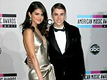Mandatory Credit: Photo by Matt Baron/BEI/REX Shutterstock (1498642ds).. Selena Gomez and Justin Bieber.. American Music Awards, Arrivals, Los Angeles, America - 20 Nov 2011.. ..