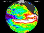 This visualization shows side by side comparisons of Pacific Ocean sea surface height (SSH) anomalies of what is presently happening in 2015 with the Pacific Ocean signal during the famous 1997 El Niño. These 1997 and 2015 El Niño animations were made from data collected by the TOPEX/Poseidon (1997) and the OSTM/Jason-2 (2015) satellites.