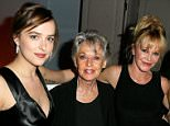 LOS ANGELES, CA - OCTOBER 19: (L-R) Actors Dakota Johnson, Tippi Hedren, Melanie Griffith and Stella Banderas attend the 22nd Annual ELLE Women in Hollywood Awards at Four Seasons Hotel Los Angeles at Beverly Hills on October 19, 2015 in Los Angeles, California.  (Photo by Jeff Vespa/Getty Images for ELLE)