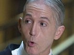 Representative Trey Gowdy, a Republican from South Carolina and chairman of the House Benghazi Committee, speaks to the media as he arrives to a closed interview with Cheryl Mills, former State Department chief of staff under former Secretary of State Hillary Clinton, not pictured, on Capitol Hill in Washington, D.C., U.S., on Thursday, Sept. 3, 2015. Clinton's use of a private e-mail address and home server in the job has become a focus of the House committee's probe of the Obama administration's handling of a 2012 assault on a U.S. diplomatic compound in Benghazi, Libya. Photographer: Andrew Harrer/Bloomberg via Getty Images