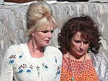 ***CORRECTION - STRICTLY NO WEB USE UNTIL 00:01 ON 20/10/15 - FEE SET AT 250 GBP FOR USE OF THE SET*** EXCLUSIVE ALLROUNDERComedy icons Jennifer Saunders and Joanna Lumley back together as fashionistas Edina Monsoon and Patsy Stone filming the movie version of BBC sitcom 'Absolutely Fabulous' on the Mediterranean coast. Featuring: Joanna Lumley, Jennifer Saunders Where: Narbonne, France When: 15 Oct 2015 Credit: WENN.com
