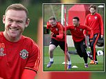 MANCHESTER, ENGLAND - OCTOBER 20:  Wayne Rooney of Manchester United in action during a first team training session, ahead of their UEFA Champions League Group B match against CSKA Moscow, at Aon Training Complex on October 20, 2015 in Manchester, England.  (Photo by Matthew Peters/Man Utd via Getty Images)  ***BESTPIX***