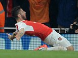 Arsenal V Bayern Munich, Champions league.  Picture Andy Hooper Daily Mail/ Solo Syndication pic shows giroud scores