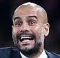 epa04985847 Bayern Munich manager Pep Guardiola reacts during a Champions League group F soccer match at the Emirates Stadium in London, Britain,  20 October, 2015.  EPA/ANDY RAIN