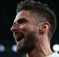 LONDON, ENGLAND - OCTOBER 20:  Olivier Giroud of Arsenal celebrates after scoring to make it 1-0 during the UEFA Champions League match between Arsenal and Bayern Munich at the Emirates Stadium on October 20, 2015 in London, United Kingdom.  (Photo by Catherine Ivill - AMA/Getty Images)