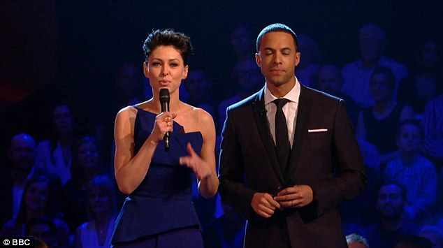 Sexy Smurf? Co-host Emma Willis' blue look was rather lovely