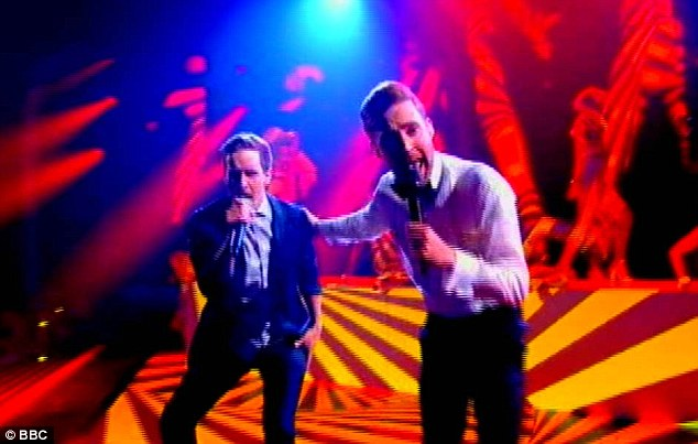 Duet: Stevie was joined on the stage by Ricky Wilson for a duet of The Beatles' Get Back