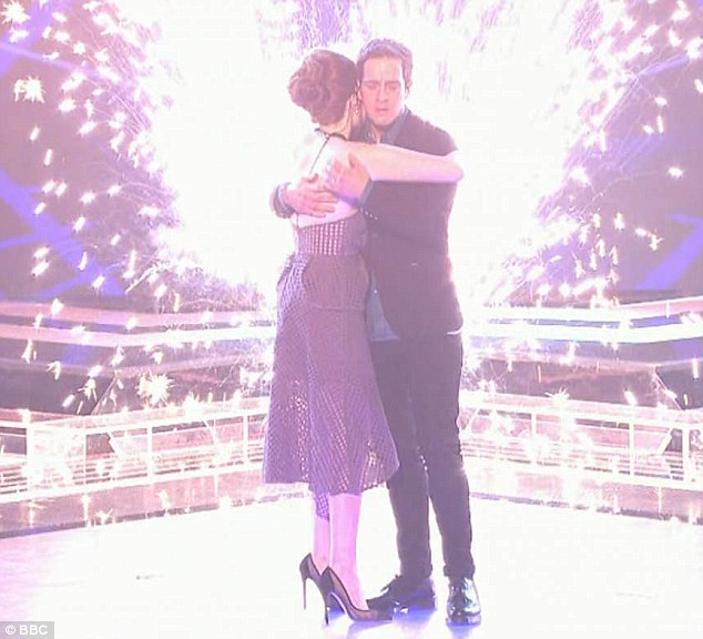 Disbelief: On learning of his win, Stevie appeared to be in disbelief as he hugged a gracious Lucy, who came second place