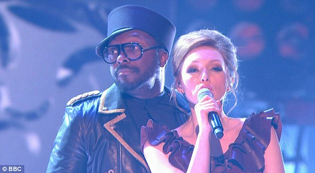 Duet: Lucy was joined on the stage by her mentor, will.i.am, for an opera-rap fusion of Carmen's Habanera