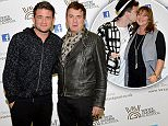 Shane Richie Jnr and dad Shane Richie at Press Night for Last Night A DJ Saved My Life at Blackpool Opera House starring David Hasselhoff..Pix Dave Nelson