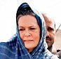Kota: Congress President Sonia Gandhi meeting with the farmers whose crop damged due to the recent unseasonal rains, in Kota on Friday. PTI Photo  (PTI3_20_2015_000228A) *** Local Caption ***