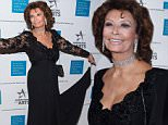 Honoree Sophia Loren poses with singer Tony Bennett as they arrive for the Americans for the Arts annual gala, the National Arts Awards, October 19, 2015 at Cipriani 42nd St. in New York.  Honorees attending include Lady Gaga, Sophia Loren, Herbie Hancock, Alice Walton, Maria Bell and Joan & Irwin Jacobs.   AFP PHOTO / TIMOTHY A. CLARYTIMOTHY A. CLARY/AFP/Getty Images
