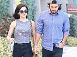 ***MANDATORY BYLINE TO READ INFPhoto.com ONLY*** Lucy Hale seen getting some refreshments with bofyriend Anthony Kalabretta in West Hollywood, CA.  Pictured: Lucy Hale, Anthony Kalabretta Ref: SPL1156531  201015   Picture by: Lazic/Chiva/INFphoto.com