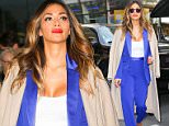 Nicole Scherzinger steps out in a stylish in a bright blue suit under camel coat while leaving the Today Show in New York City  Pictured: Nicole Scherzinger Ref: SPL1155889  201015   Picture by: Felipe Ramales / Splash News  Splash News and Pictures Los Angeles: 310-821-2666 New York: 212-619-2666 London: 870-934-2666 photodesk@splashnews.com