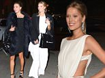 Toni Garrn holds hands with rumored girlfriend while leaving Cipriani Wall St where the two attended the Angel Ball  Pictured: Toni Garrn Ref: SPL1156046  201015   Picture by: BlayzenPhotos / Splash News  Splash News and Pictures Los Angeles: 310-821-2666 New York: 212-619-2666 London: 870-934-2666 photodesk@splashnews.com