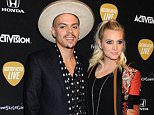 Pictured: Evan Ross and wife Ashlee Simpson Mandatory Credit © Gilbert Flores/Broadimage Guitar Hero Live Launch Party  10/19/15, Los Angeles, CA, United States of America  Broadimage Newswire Los Angeles 1+  (310) 301-1027 New York      1+  (646) 827-9134 sales@broadimage.com http://www.broadimage.com