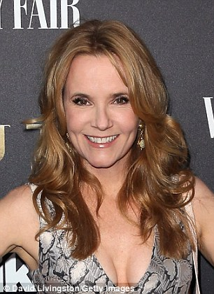 'Now, of course, I'm there!' Lea Thompson looks gorgeous at 54 - seven years older than the boozy, bloated Lorraine Baines-McFly was at the beginning of the time-traveling classic (pictured Wednesday)