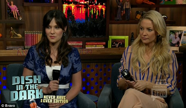 Revealing: During a game on Watch What Happens Live - played alongside Rock the Kasbah co-star Zooey Deschanel - Kate admitted tohaving smoked weed with a family member, been high at an awards show, and texted a nude photo to someone