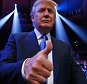 NEW YORK, NY - OCTOBER 17:  Presidential candidate Donald Trump attends the fight between Gennady Golovkin against  David Lemieux for their WBA/WBC interim/IBF middleweight title unification bout at Madison Square Garden on October 17, 2015 in New York City.  (Photo by Al Bello/Getty Images)