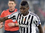 Juventus' Paul Pogba fires a shot during the Champions League, group D soccer match between Juventus and Borussia Moenchengladbach at the Juventus Stadium in Turin, Italy, Wednesday, Oct. 21, 2015. (AP Photo/Massimo Pinca)