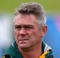 GUILDFORD, ENGLAND - OCTOBER 21:  (L-R): South Africa coach Heyneke Meyer, assistant coach Ricardo Loubscher and  psychologist Pieter Kruger look on during a South Africa training session, ahead of their Rugby World Cup semi final against New Zealand, at Surrey Sports Park on October 21, 2015 in Guildford, England.  (Photo by Mike Hewitt/Getty Images)
