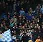 MANCHESTER, ENGLAND - OCTOBER 21:  Fans from both teams are separated by stewards during the UEFA Champions League Group D match between Manchester City and Sevilla at Etihad Stadium on October 21, 2015 in Manchester, United Kingdom.  (Photo by Alex Livesey/Getty Images)