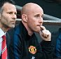 Football - Premier League - MANCHESTER UTD V NORWICH -  Man Utd interim manager Giggs with new coaching staff Paul Scholes, Phil Neville and Nicky Butt before the game against Norwich. PIcture by Ian Hodgson/Daily Mail . REXMAILPIX.
