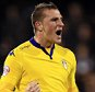 21 October 2015 - Sky Bet Championship - Fulham v Leeds United - Chris Wood of Leeds United celebrates scoring  a goal from the penalty spot - Photo: Marc Atkins / Offside.