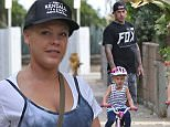 EXCLUSIVE. Coleman-Rayner. Venice, CA, USA.\nOctober 19, 2015\nA makeup free Pink is spotted leaving breakfast at a local cafe with husband Carey Hart and four-year-old look-a-like daughter Willow. The singer was seen leaving on foot as she carried her skateboard while the former motocross racer was riding his as their daughter rode her bike.\nCREDIT LINE MUST READ: Coleman-Rayner\nTel US (001) 310-474-4343- Office\nTel US (001) 323-545-7584 - Mobile\nwww.coleman-rayner.com