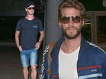 Picture Shows: Liam Hemsworth  October 20, 2015\n \n Actor Liam Hemsworth arrives at LAX airport in Los Angeles, California. Liam was returning from his native Australia, where he premiered his new film 'The Dressmaker'.\n \n Exclusive all round\n UK RIGHTS ONLY\n \n Pictures by : FameFlynet UK © 2015\n Tel : +44 (0)20 3551 5049\n Email : info@fameflynet.uk.com