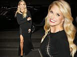 143949, EXCLUSIVE: Christie Brinkley wears an all black ensemble as she arrives at the Carlyle Hotel for dinner in New York City. New York, New York - Tuesday October 20, 2015. Photograph: © PacificCoastNews. Los Angeles Office: +1 310.822.0419 sales@pacificcoastnews.com FEE MUST BE AGREED PRIOR TO USAGE