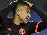 Manchester United's English midfielder Jesse Lingard reacts during the UEFA Champions League group B football match between PFC CSKA Moscow and FC Manchester United at the Arena Khimki stadium outside Moscow on October 21, 2015. AFP PHOTO / YURI KADOBNOVYURI KADOBNOV/AFP/Getty Images