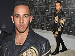 VIP guests arrive for the Balmain x H&M Collection Launch Event, held at 23 Wall Street    Pictured: Lewis Hamilton Ref: SPL1157130  201015   Picture by: Johns PKI/Splash News  Splash News and Pictures Los Angeles: 310-821-2666 New York: 212-619-2666 London: 870-934-2666 photodesk@splashnews.com