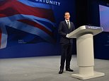 Conservative Party Annual Conference, Manchester Central, Greater Manchester.-  George Osborne speech  Pic Bruce Adams / Copy Lobby- 5/10/15