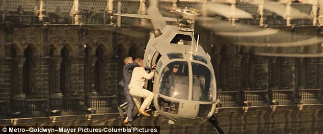 Action-packed: The film - directed by Sam Mendes, his second Bond film - promises to be full of gripping drama and theatrical scenes