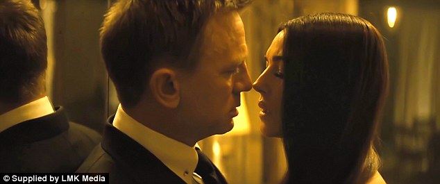 First glimpse: A previous look at Craig and Bellucci's steamy scene has already been shared in the trailer
