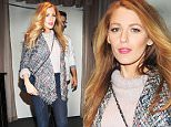 Exclusive - Byline must read: Guillermo Landetta/Dbdpix.Com GBP 40 PER IMAGE\n Mandatory Credit: Photo by Guillermo Landetta/Dbdpix.Co/REX Shutterstock (5288348c)\n Blake Lively leaving a sushi restaurant in Brooklyn\n Blake Lively out and about, New York, America - 21 Oct 2015\n Byline must read: Guillermo Landetta/Dbdpix.Com\n