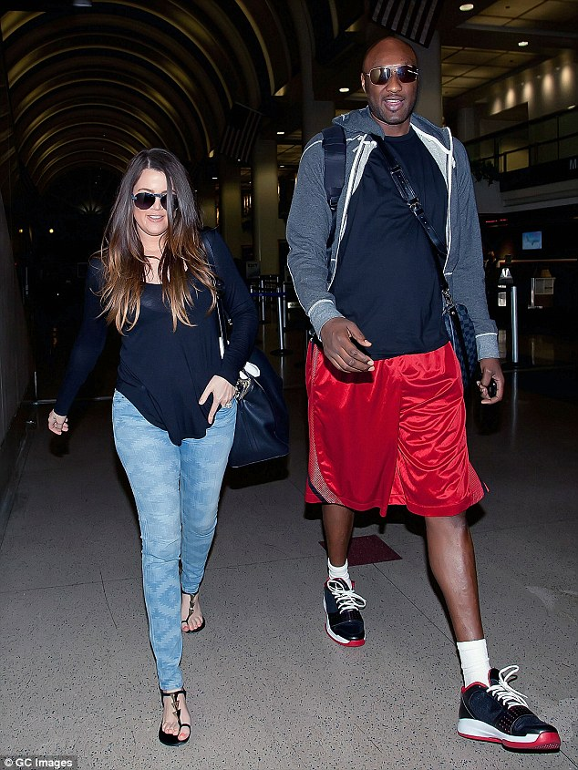 Back when things were better: The E! star has been taking care of Lamar Odom ever since her suffered an alleged overdose in Nevada; here they are seen in 2012