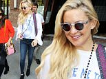 ***MANDATORY BYLINE TO READ INFPhoto.com ONLY***\nActress Kate Hudson wears a Woodstock shirt as she leaves a downtown hotel in New York City.\n\nPictured: Kate Hudson\nRef: SPL1157530  211015  \nPicture by: ACE/INFphoto.com\n\n