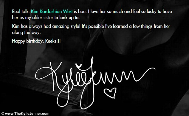 Kopykat: Kylie admitted that it's 'possible' she has 'learned a few things' from the way Kim dresses