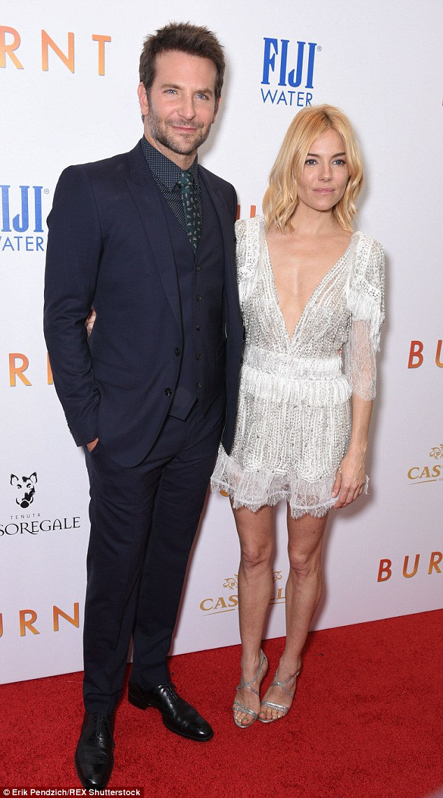 Recipe for success: Bradley Cooper and Sienna Miller looked in fine form at the premiere of Burnt in New York on Tuesday